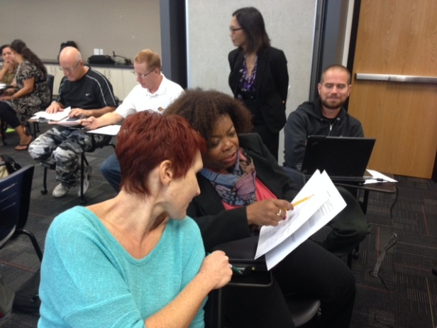 SDUSD math teachers discuss solutions at the first MfA SD Teacher Leader Collaborative Oct. 16.