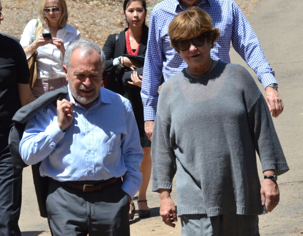 Robert Reich with Groundwork Executive Director Leslie Reynolds at EarthLab.