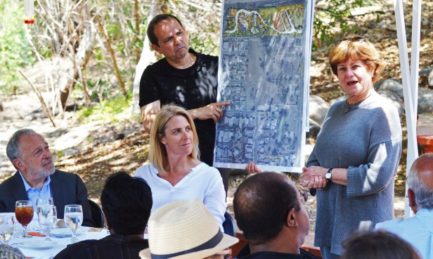 Richard Blum offered his support for Groundwork's plan to acquire property adjacent to the EarthLab in order to develop the Chollas View Regional Park. UC San Diego Professor Cruz and Groundwork Executive Director Leslie Reynolds discuss the proposed expansion.