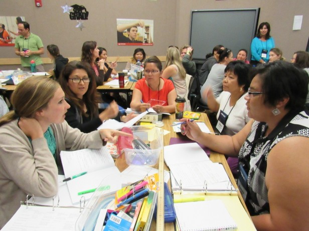 Power grant teachers learn to integrate the three-dimensions of the NGSS (Science and Engineering Practices, Crosscutting Concepts, and Disciplinary Core Ideas) into classroom instruction.