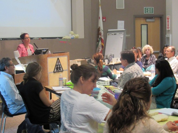 UC San Diego Prof. Olivia Graeve, a material science engineer, introduces NGSS-aligned engineering lessons at the Power Summer Institute.