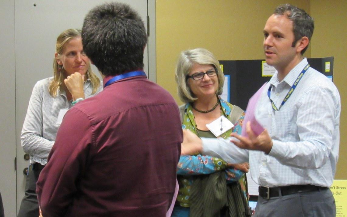 Spawar's John deGrassie with SUHSD's Katrine Czajkowski (left) and Nan Renner, UC San Diego CREATE.