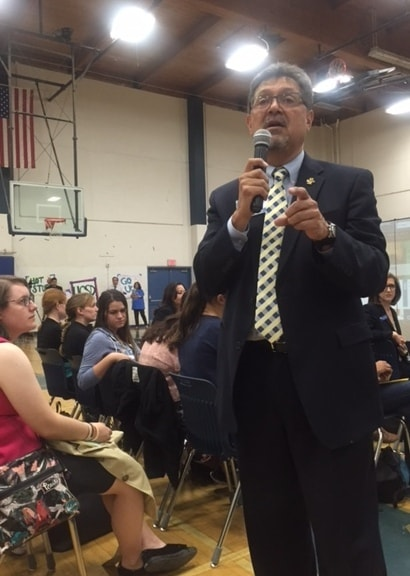 Juan Gonzalez, UC San Diego Vice Chancellor of Student Affair, urged students to apply to college.